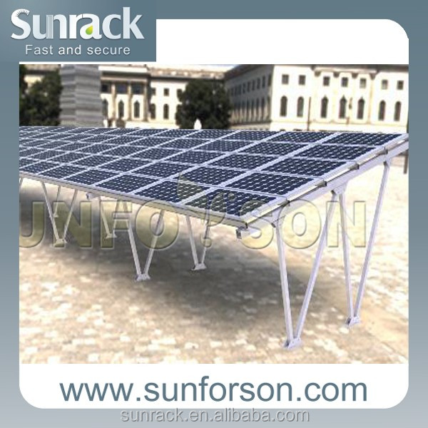 strong structure solar panel all aluminum carport mount structure/frame/parts