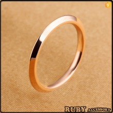 fashion jewellery simple stainless steel rose gold finger ring rings design for women with price