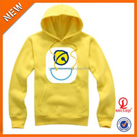 Unisex Yellow 100% Cotton Plain Hoodie With Printed Design/Soft Comfortable Hoodie Custom Offer OEM Service