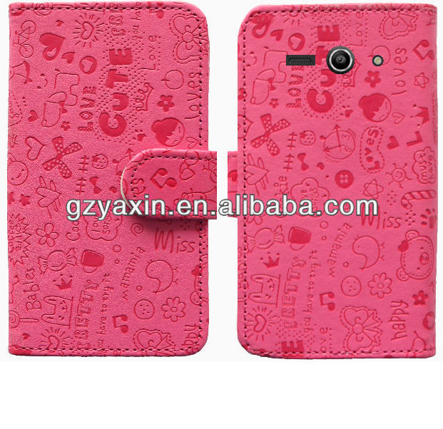 Mobile phone leather case for lenovo s820,leather flip case for lenovo s820