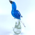 hand blown home decor glass parrot animal figurines