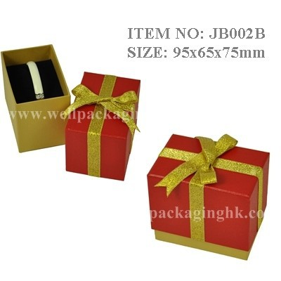JB002 paper jewellery box jewelry gift box with ribbon
