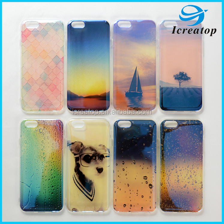 Phone Case for Apple iPhone 6 7 7 plus Case Transparent Gradient Color Case Design TPU Silicon Phone Cover