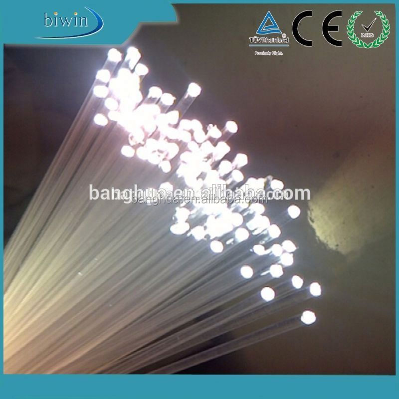 Plastic End Light Fiber Optic Cables For Lighting