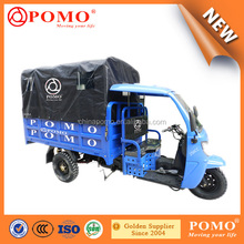 2016 South America Popular Heavy Load Strong Semi Closed Cabin Cargo 250CC Reverse Pedal Tricycle