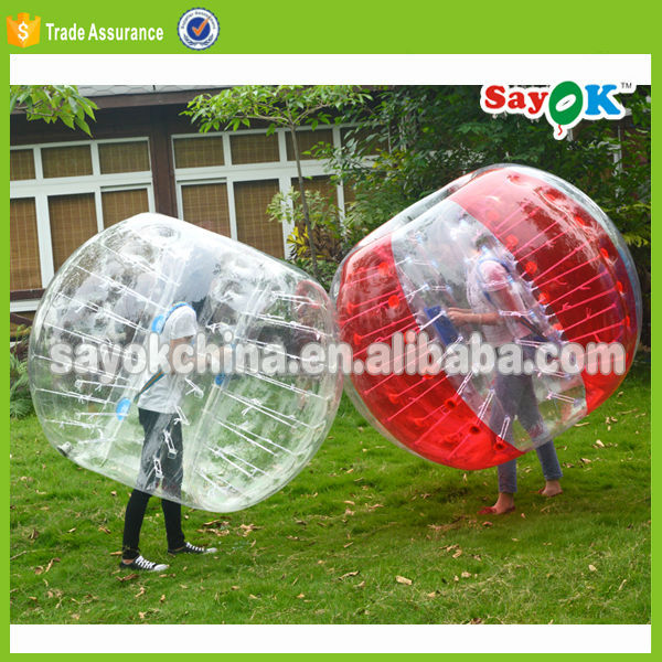 human sized cheap adult inflatable belly bumper ball prices