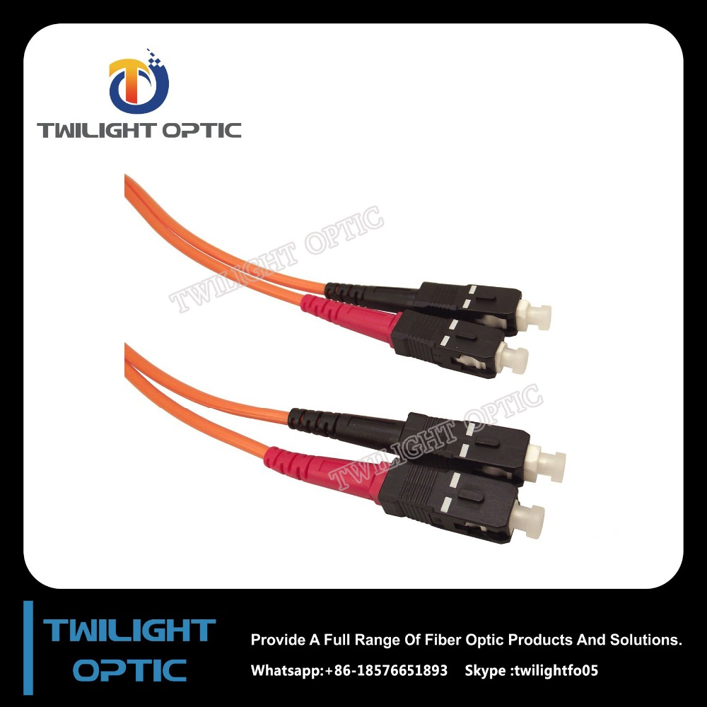 SC to SC, Duplex Multimode Fiber Optic Cables, OM1 62.5/125 For FTTH FTTX &Network Factory&Supplier&Manufacturer