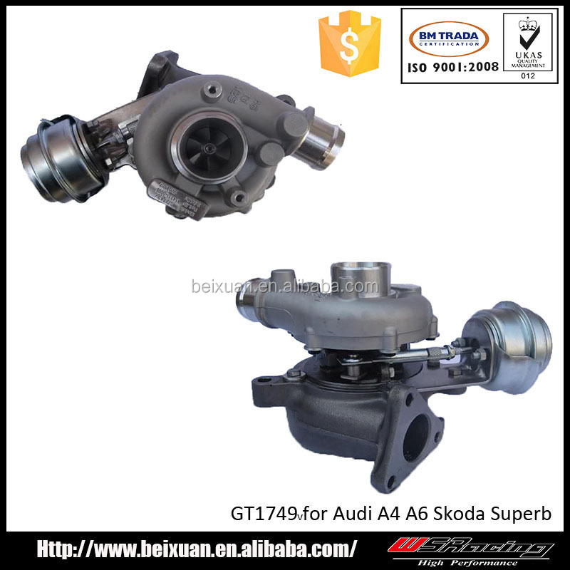 GT1749V Turbo for Audi A4 A6 1.9 TDI racing turbocharger cheap turbos for sale