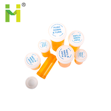 Plastic Reversible Vials or Pill Bottles or Dram Vials with a Child Resistant Twist Cap
