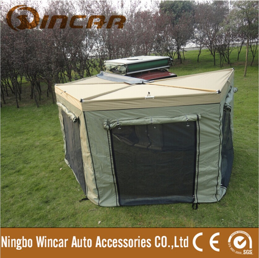 Waterproof Ripstop Canvas Roof tent With Aluminum sheet 60mm mattress Roof Top Camping Tent