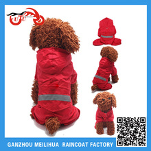 Wholesale Pet Cloth/Waterproof Puppy Dog Raincoat Cat Raincoat with Reflective Tape