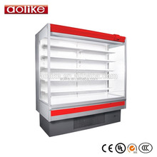 Open Dairy Refrigerated Display Case Commercial Fridge Air Cooler
