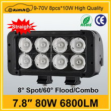 "7.8"" 6800LM 80W 4x4 buggy offroad led light bar"