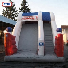 30ft Kids Inflatible Slip And Kiddies Commercial Adult Hire Fire Truck Inflatable Water Slide