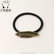Leaf shaped fashionable European hair tie hot sale! made in China