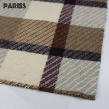 Pariss 50%Wool 50%Polyester plaid design twill woven poly wool blended fabric
