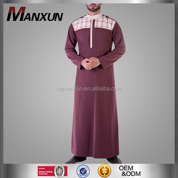 Fashion Kuwait Style Men Thobe New Style Saudi Thobe Design Arabic Jubah For Men