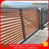 decorative house wood grain aluminum slat fence