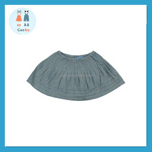 Chambray Materail Kids Skirt/Fancy Skirt Top Design/Denim Skirt