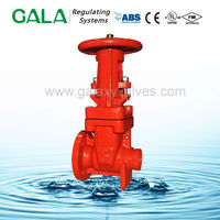 FM UL Approved manual wedge non-rising stem resilient seated gate valve dimensions