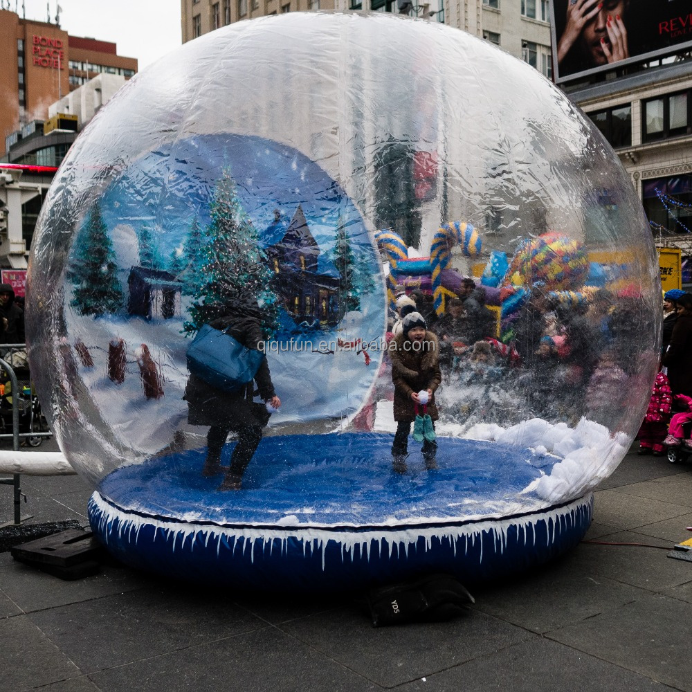 Outdoor lowes yard decor giant inflatable human size inflatable snow ball, inflatable snow globe, giant snow globes inflatable