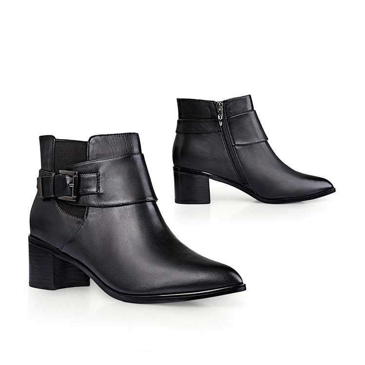 W068 Ankle boots dress casual leather upper beautiful women