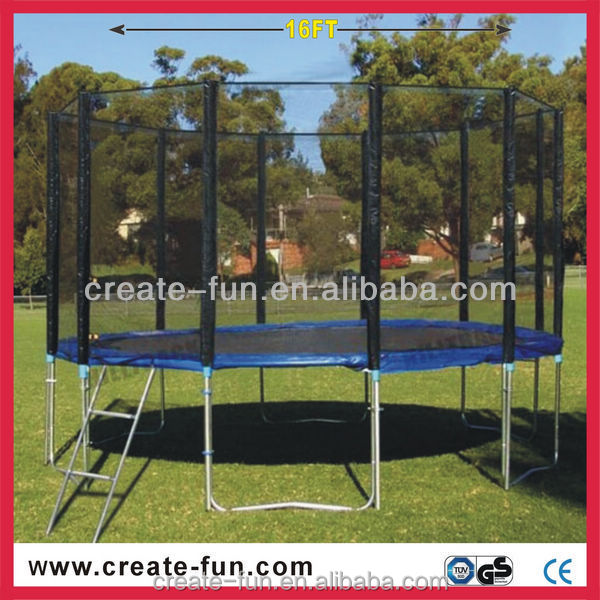 Createfun Trampoline: cheap price trampoline tent kid bed with safety net