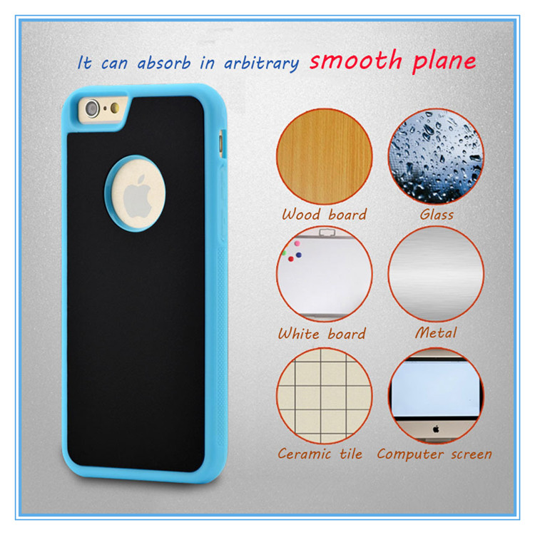 wholesale arrival anti gravity case for samsung note5 sticky Nanometer adsorption technology mobile phone case for note7 case