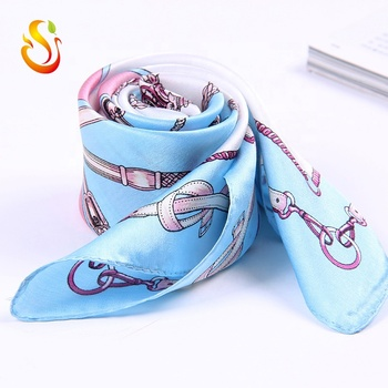 Hot selling 100% pure silk digital printing silk square scarf with size 53*53cm