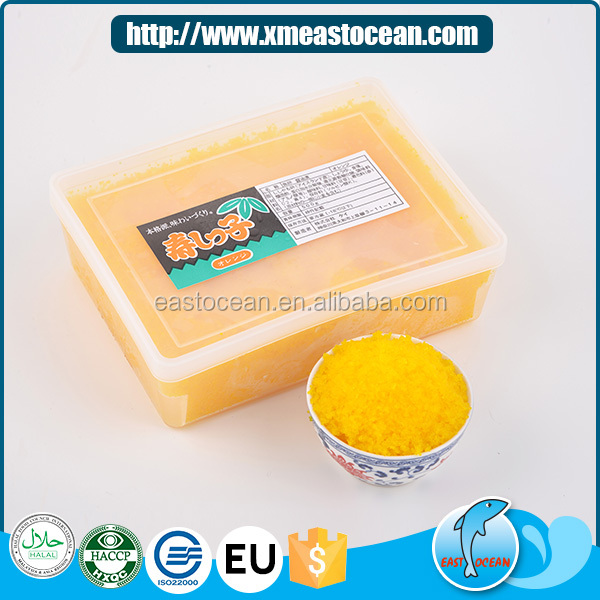 Finest yellow natural frozen seasoned fish capelin roe for sushi