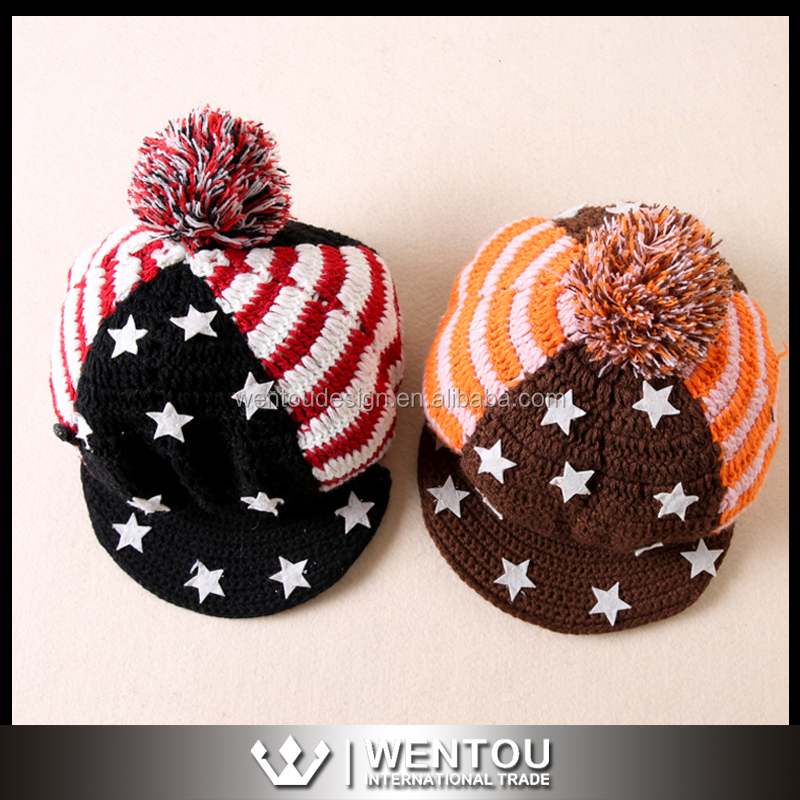 Hot Sale Fashion Women Knit Peaked Cap
