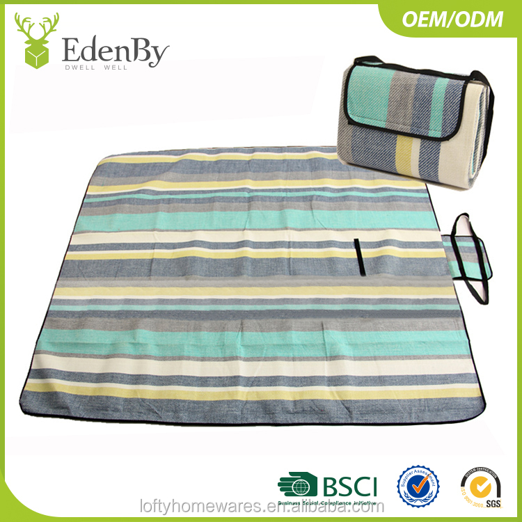 Acrylic beach blanket sand free waterproof picnic blanket outdoor camping mat for aldi