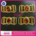 New Arrival !!!Smoked Topaz Glass diamante bikini connector in buckle rhinestone connector buckles for bikini