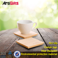 Wholesale souvenir environmental friendly cork fabric coaster sets