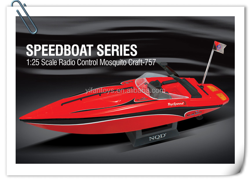 757-4023 1:25 scale High Speed Remote Control Mosquito Craft RC Boat Ship Toys for sale