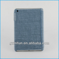 blue textile fabric beauty smart magnetic leather case for ipad mini