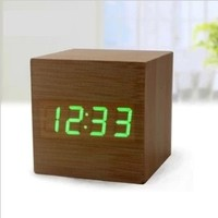 graceful various style home decor table clock wooden clock LED alarm clock function more