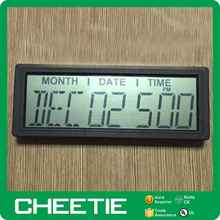 Promotional Projection Battery Operated Electric LCD Display Desk Calendar Clock for Elderly