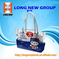 Transparent plastic pvc woman bag for bedsheet packing