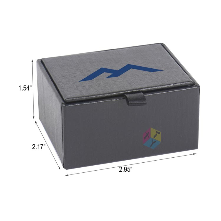 customised paper black cardboard brand cufflink box