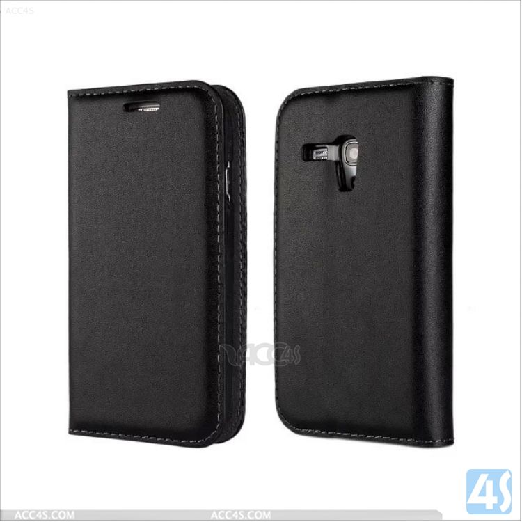 Made in China Real Leather Book Case for Samsung Galaxy S3 Mini P-SAMI8190SPCA001