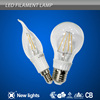 2014 best price new design led filament bulb E12/E14 high quality 3w led candle bulb