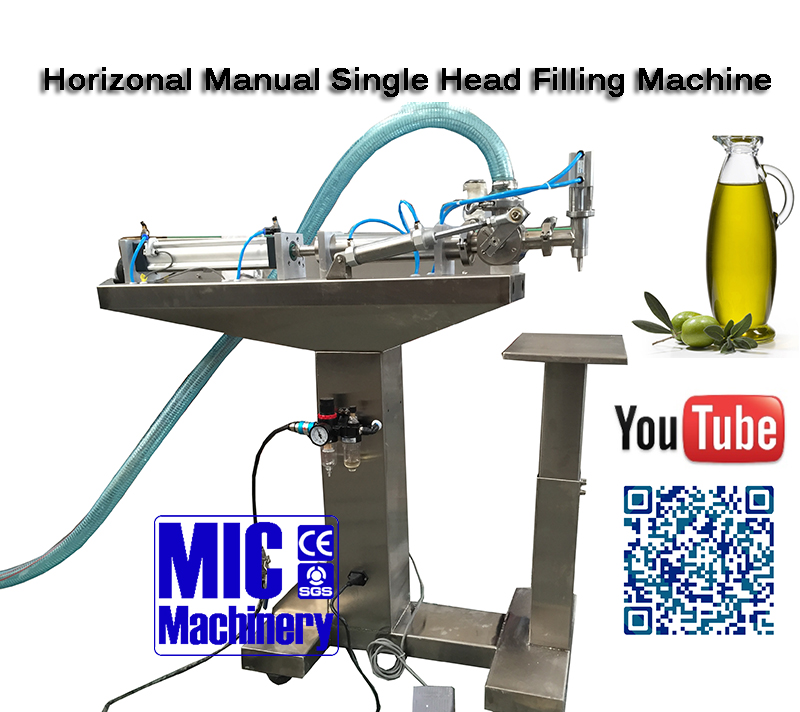 Best selling Mic viscous liquid filling machine suit for olive oil and vegetable oil filling machine speed at 10-25 bpm