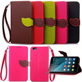 Case for Huawei Honor4X, Hot Selling High Quality PU Leather Flip Cover Wallet Case for Huawei Honor4X with Hand Strap