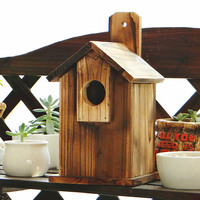 2016 small wood bird house, custom wood pet house bird house