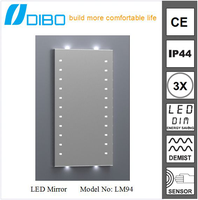 with CE certificate IP44 waterproof led light hair salon mirrors with lights