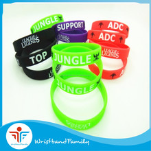 "Wholesale price ""league legends with TOP /ADC/MID /JUNGLE"" silicone bracelet /Custom logo Team silicone wristband"