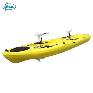 High quality sit-on-top recreational rowing boats 2 person pedal kayak
