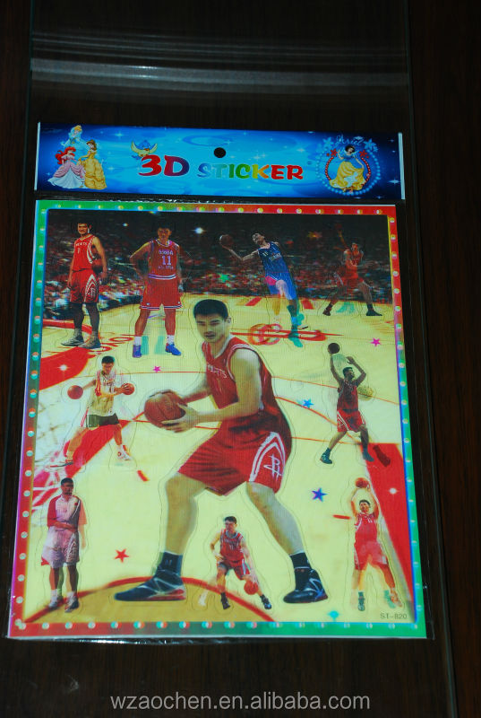 Yao Ming basketball 3D sticker