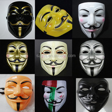 Mix colour Anonymous Costume Masquerade Mask/V for Vendetta Mask Guy Fawkes Anonymous fancy Cosplay costume GDS-AM-003/1